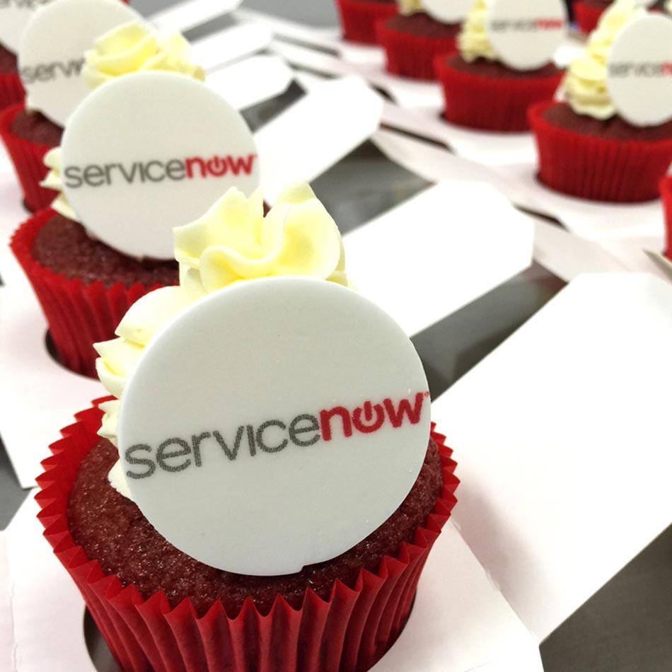 Corporate Cupcakes for Service Now