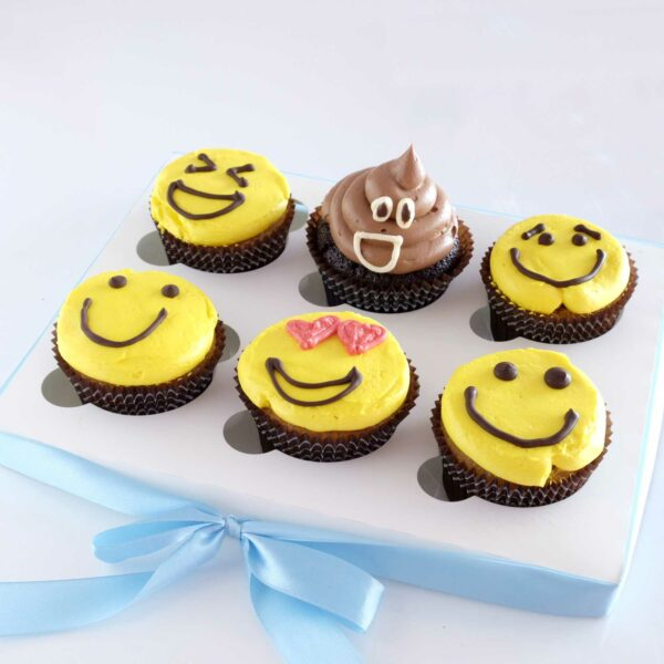 Emoji Bloom Cupcakes